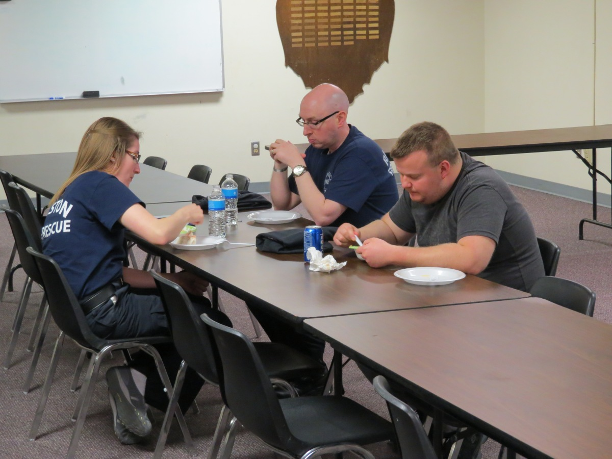 IMG Ralston Volunteer Fire Department - Lewis training table